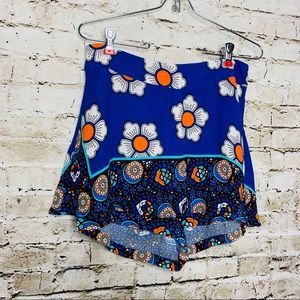 Farm Rio Blue Floral Mini Skort